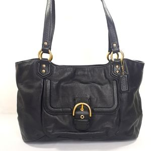 Coach f24961 Campbell Leather Belle Carryall Purse